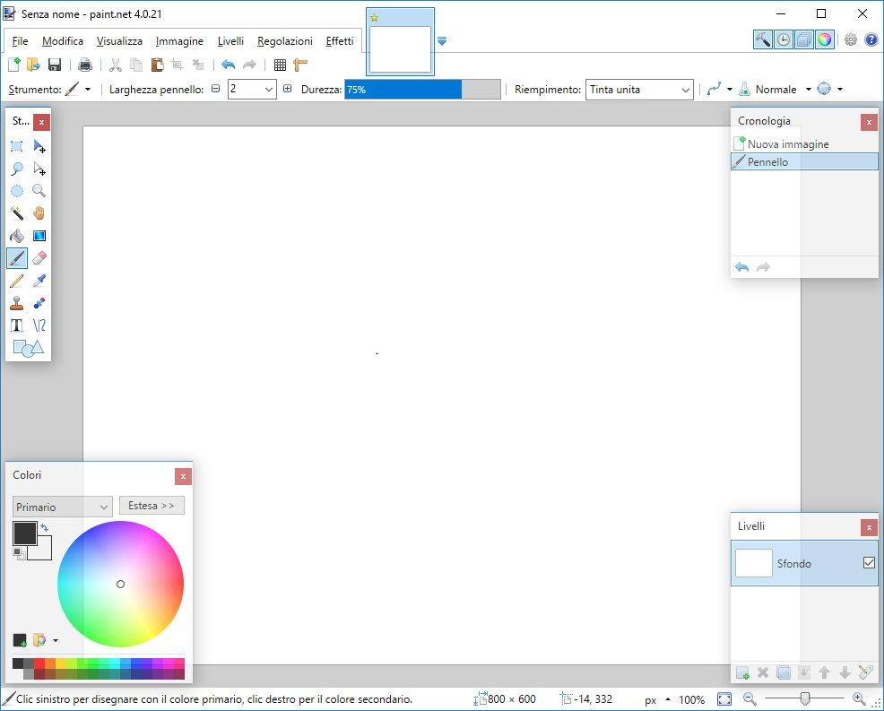 Paint.Net - Avviato