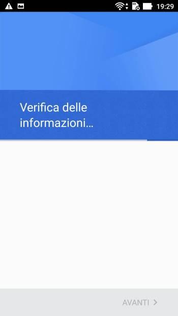 Google - Play Store - Aggiungi il tuo account - Verifica delle informazioni