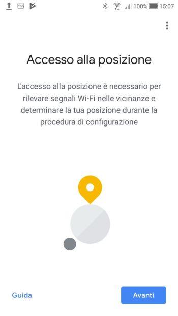 Google Home - Accesso Posizione
