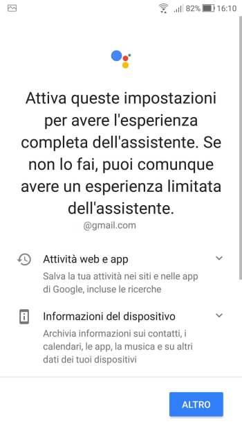 Google Home - Attiva queste impostazioni - Inizio