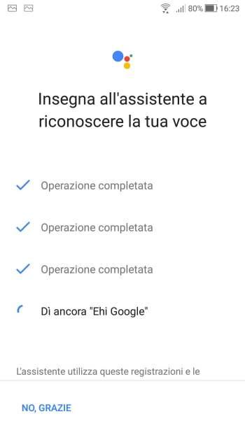Google Home - Insegna all'assistente a riconoscere la tua voce - Ehi Google Fine