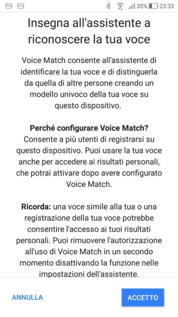 Google Home - Voice Match - Informativa 02