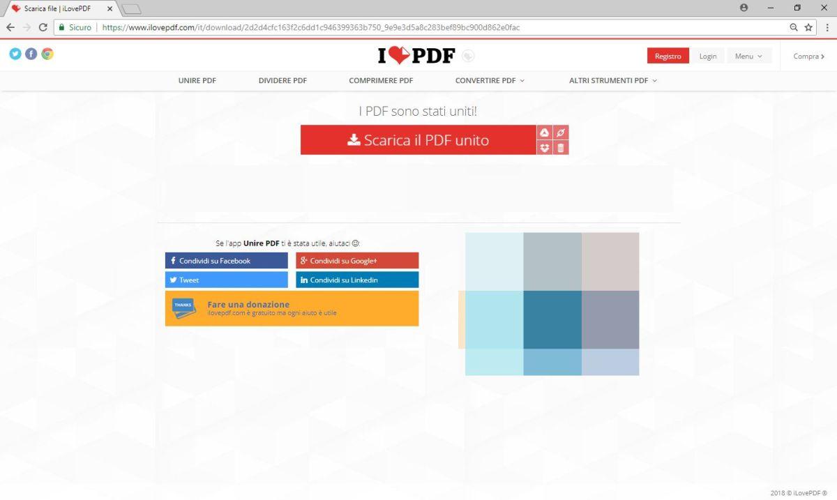 ILovePdf - Scarica PDF Unito