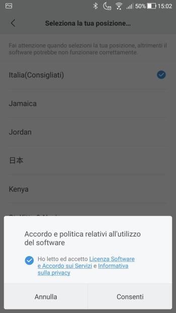 Xiaomi Mi Fit - Registrati - Accettare condizioni