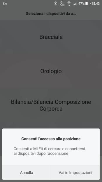 Xiaomi Mi Fit - Servizi localizzazione 03