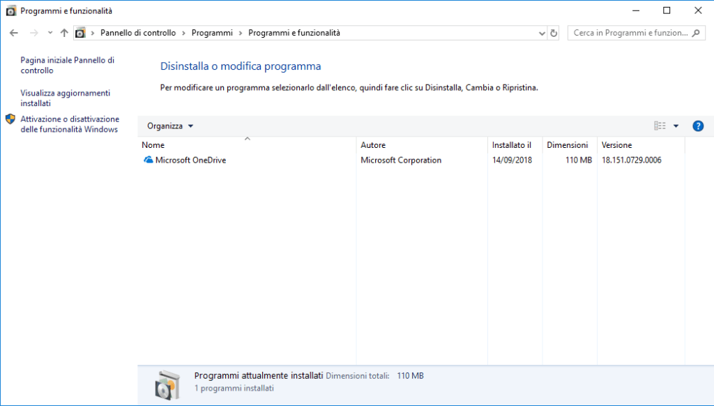 Windows 10 v1803- Ripristino PC - Applicazioni Post Ripristino
