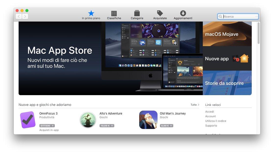macOS 1013 - App Store