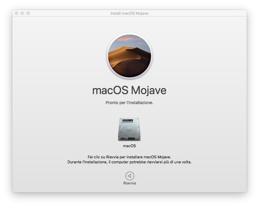 macOS 1013 - Installa Mojave 07 - Richiesta Riavvio