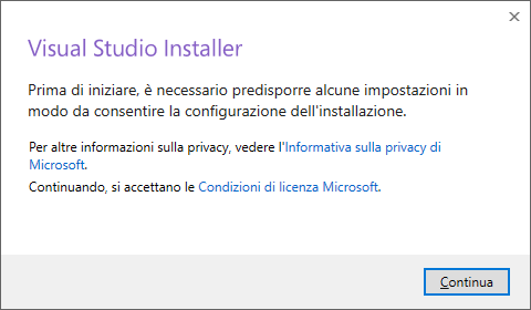 Microsoft Visual Studio 2017 Community Edition - Installzione