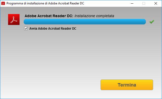Adobe Acrobat Reader DC - Avvia Adobe Acrobat Reader DC