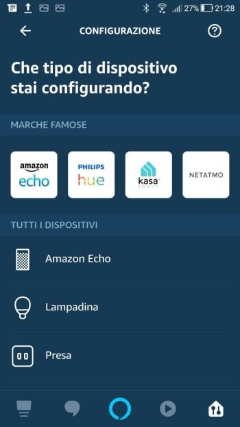 Amazon Alexa - Aggiungi dispositivo