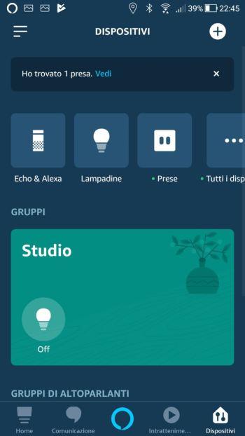 Amazon Alexa - App - Dispositivi - Presa connessa