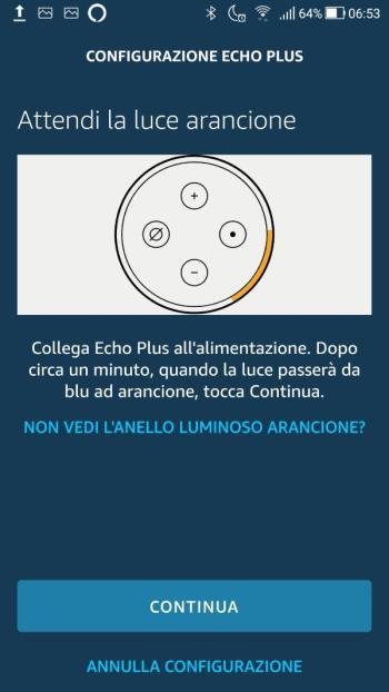 Amazon Echo - Configurazione Wi-Fi