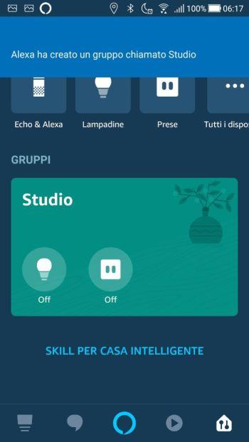 Amazon Alexa - Gruppo creato