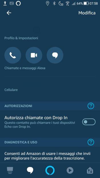 Amazon Alexa - Profilo & Impostazioni