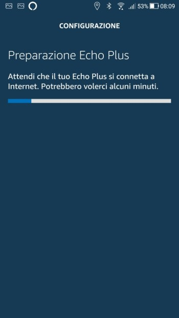 Amazon Echo - Configurazione Wi-Fi - Seleziona la tua rete Wi-Fi - Preparazione Amazon Echo