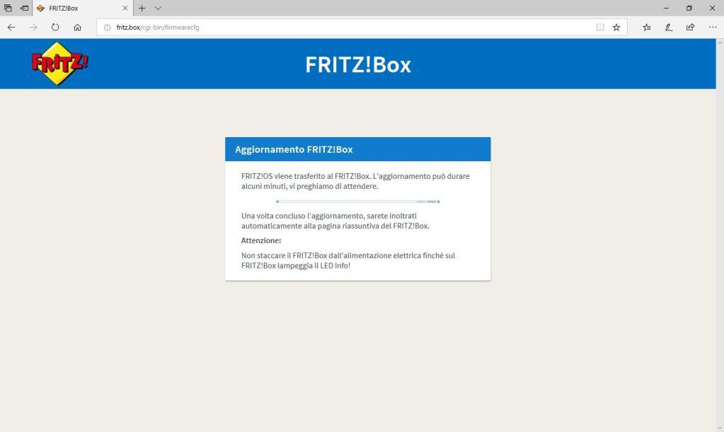 FritzBox - Aggiornamento