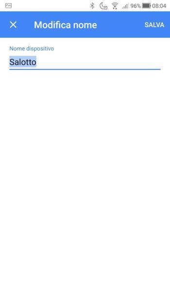 Hoohle Home - Impostazioni Dispositivo - Modifica Nome