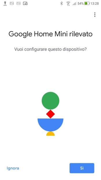 Google Home - Dispositivo Trovato