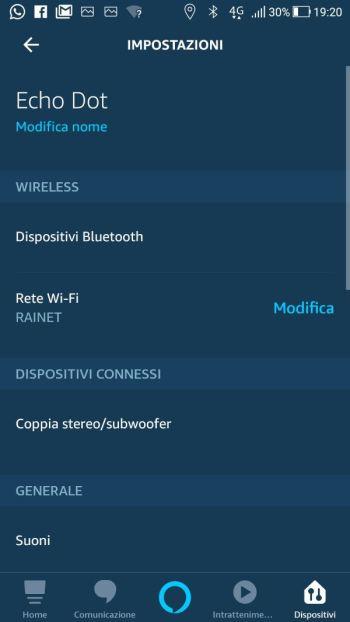 Amazon Alexa - Configurazione Echo Dot