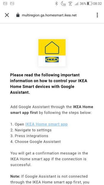 Google Home - Ikea home smart disclaimer 01