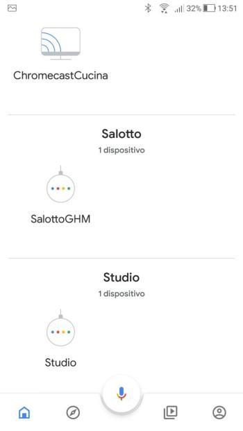 Google Home - Dispositivo Salotto - Nome Cambiato