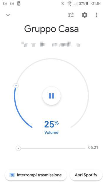 Google Home - Riproduzione musica Gruppo di altoparlanti