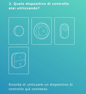 Ikea TRÅDFRI - App - Accoppiamento lampadina gateway - Aggiungi Luce - Selezionare dispositivo di controllo