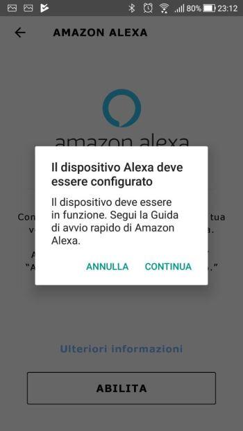 IkeaTRÅDFRI - App - Integrazione Amazon Alexa - Dispositivo configurato