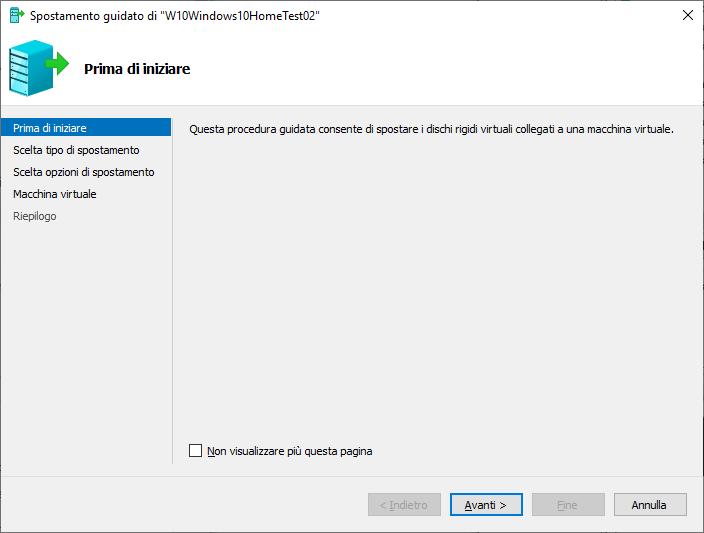 Windows 10 - Hyper-V - Sposta