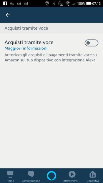 Amazon Alexa - Acquisti tramite voce Off