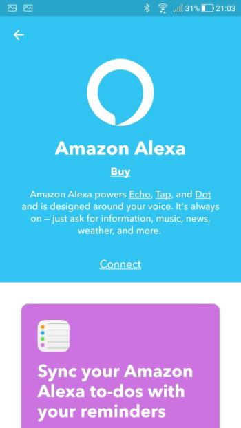 IFTTT - App - Applets - Amazon Alexa