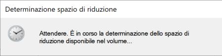 Windows 10 - Determinazione Spazio di Riduzione