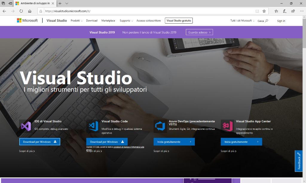 Microsoft Visual Studio 2019 - Sito - Home Page
