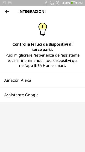 App IKEA Home Smart - Integrazioni