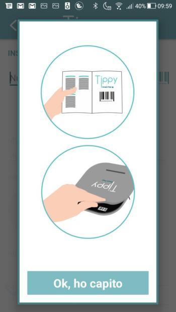 Tippy - Posizione codice a barre