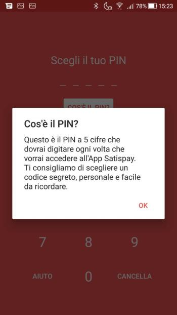 Satispay - Cos'è il PIN?