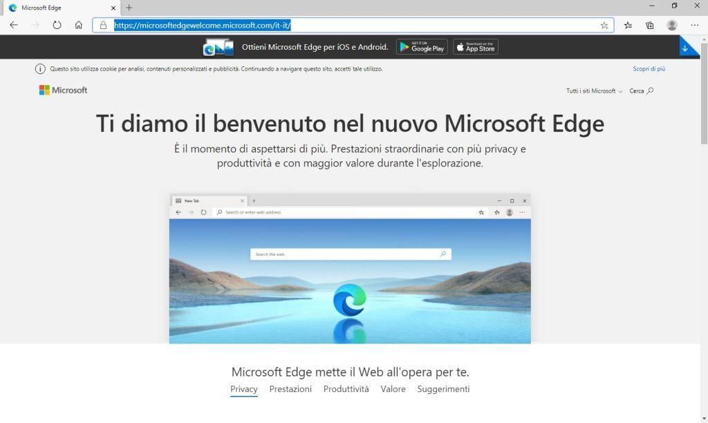 Nuovo Microsoft Edge - Ti diamo il benvenuto nel nuovo Microsoft Edge