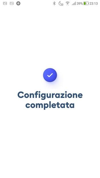 Immuni - Configurazione Completata