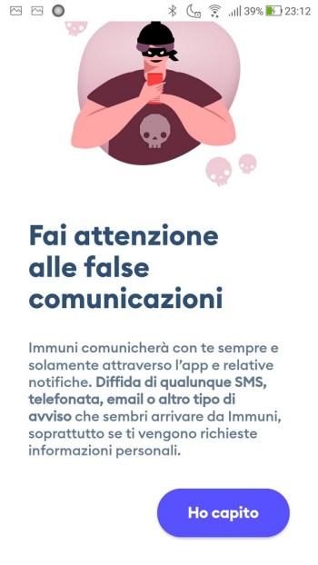 Immuni - Fai attenzione alle false comunicazioni