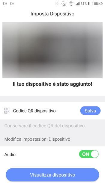 App EZVIZ - Il tuo dispositivo è stato aggiunto