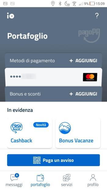 App IO - Portafoglio