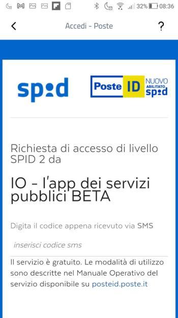 App IO - SPID - PosteID - Richiesta di accesso di livello SPID 2
