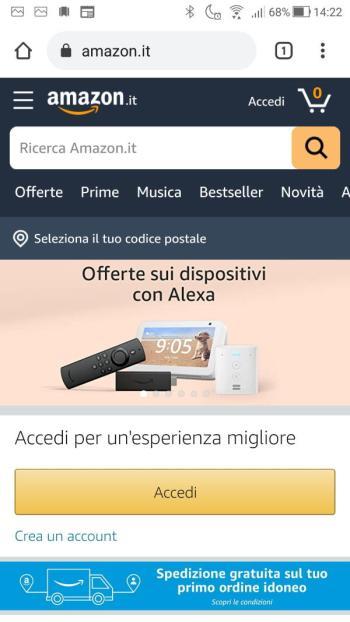 Amazon - Home - Accedi