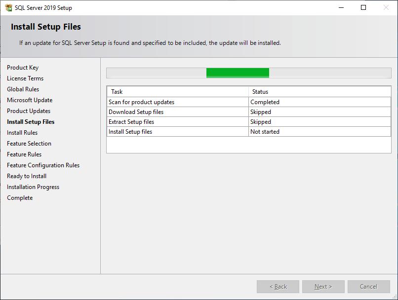 Microsoft Sql Server 2019 - Setup - Install Setup Files