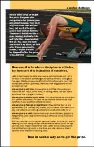 Athlete lenten meditation