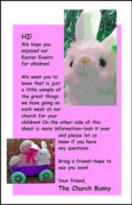 Bunny Return Invitation