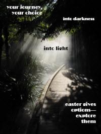 Darkness and Light Postcard