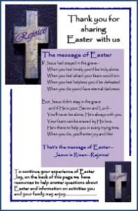 Easter Church Bulletin