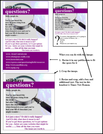 A PDF of the various ways you can modify and use this image.